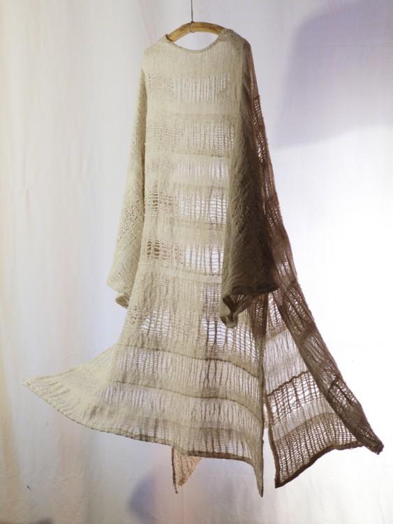 long cardigan- hand weaving 004-a
