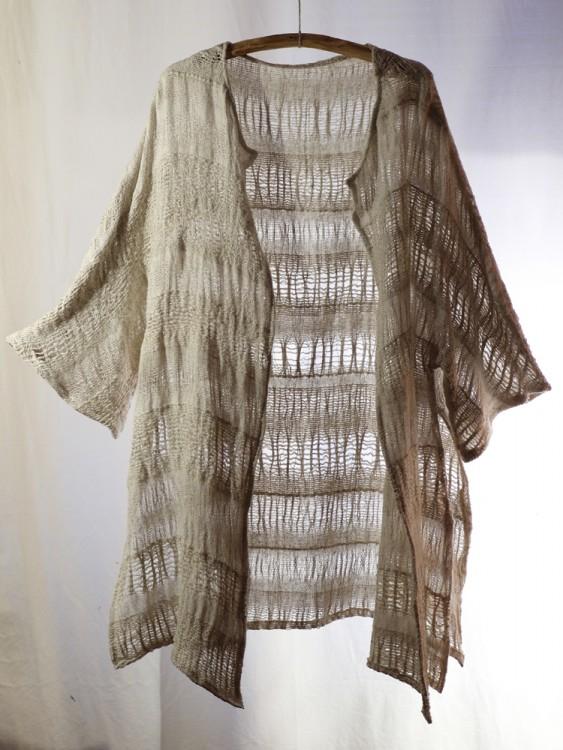 long cardigan- hand weaving 004-c