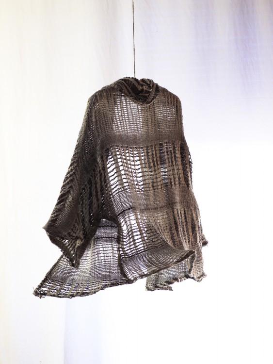 shawl collar cardigan- hand weaving 003-a